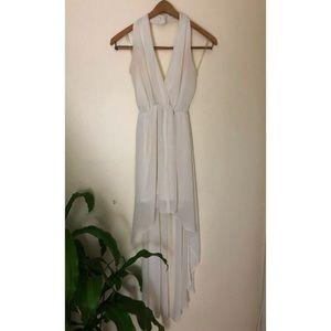 White halter  high-low dress (S)